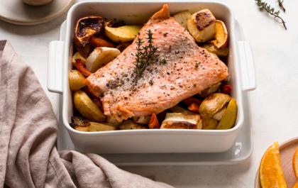 Pavé de saumon aux légumes